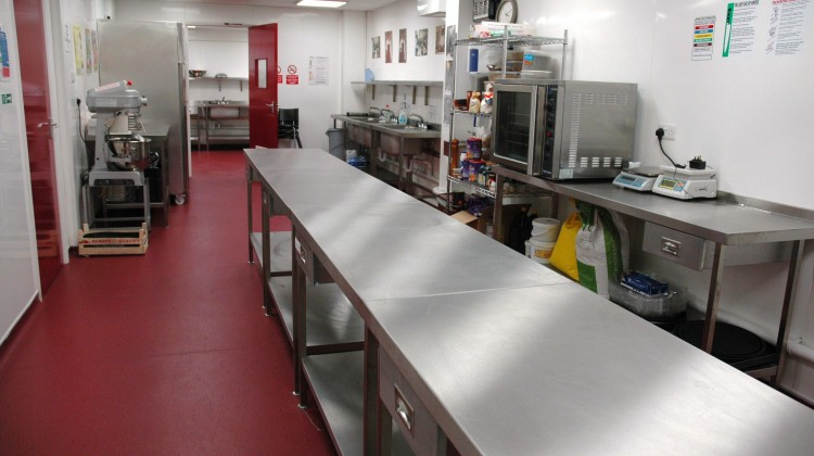 greenwich production and training kitchen for hire gcda
