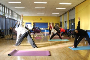 Yoga in the WCCC main hall1