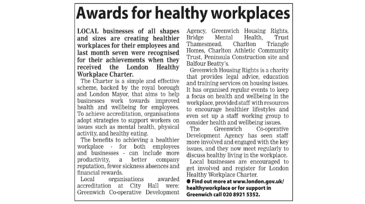 Awards for Healthy Workplaces