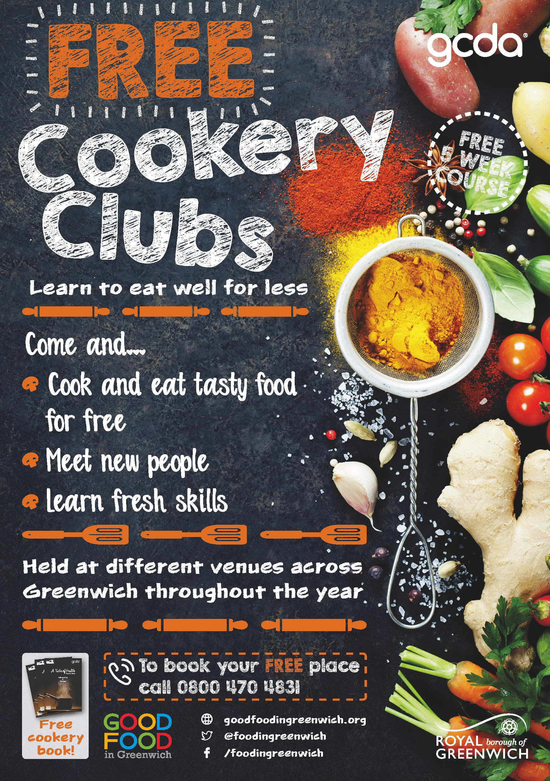 free greenwich cookery clubs healthy eating on a small budget