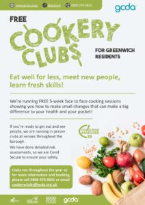 Free Greenwich Cookery Club